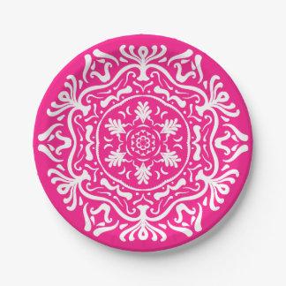 Foxglove Mandala Paper Plate