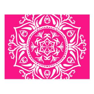 Foxglove Mandala Postcard