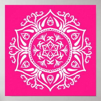 Foxglove Mandala Poster
