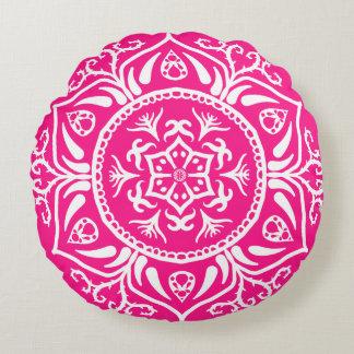 Foxglove Mandala Round Pillow