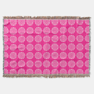 Foxglove Mandala Throw Blanket