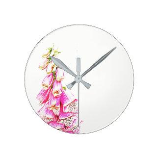 Foxglove Print Clocks