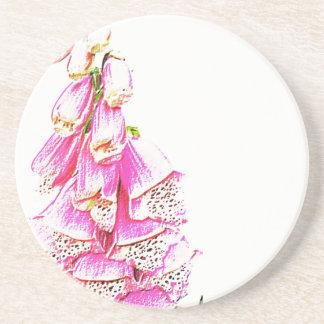 Foxglove Print Coasters