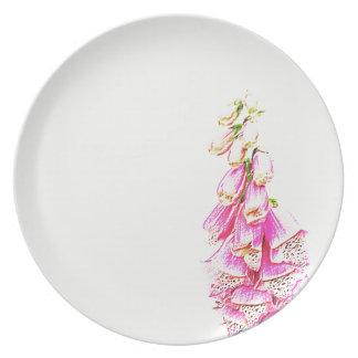 Foxglove Print Party Plates
