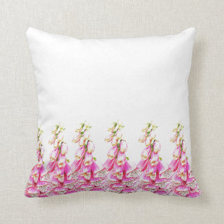 Foxglove Print Throw Pillow