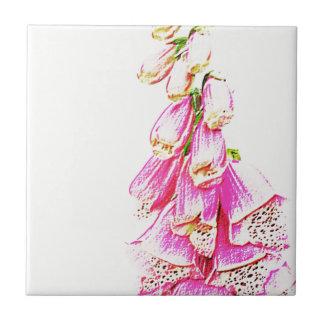 Foxglove Print Tile
