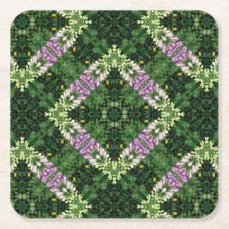Foxglove square pattern square paper coaster