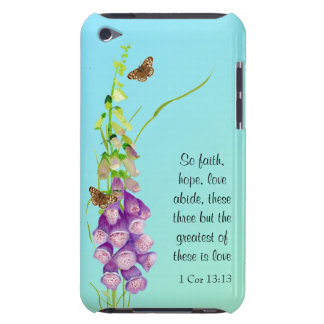 Foxglove Watercolor Butterflies 1 Corinthians 13 Barely There iPod Cover