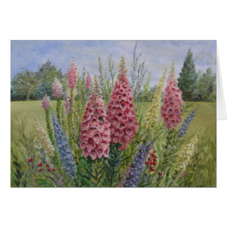 Foxgloves - Best Wishes Card