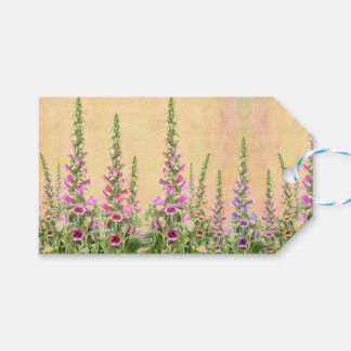 Foxgloves flowers pack of gift tags
