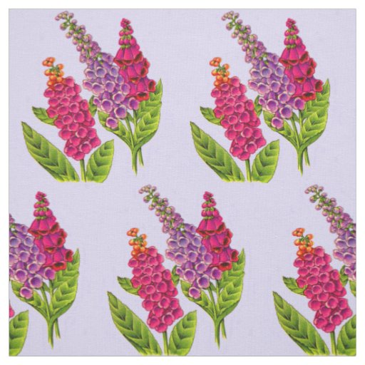foxgloves print floral print fabric
