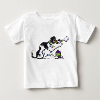 Foxhound Blowing Bubbles Off-Leash Art™ Baby T-Shirt