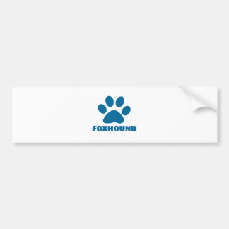 FOXHOUND DOG DESIGNS BUMPER STICKER