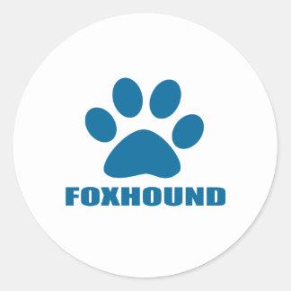 FOXHOUND DOG DESIGNS CLASSIC ROUND STICKER