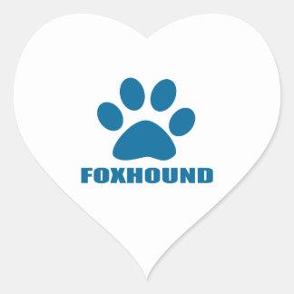 FOXHOUND DOG DESIGNS HEART STICKER