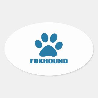 FOXHOUND DOG DESIGNS OVAL STICKER