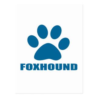 FOXHOUND DOG DESIGNS POSTCARD