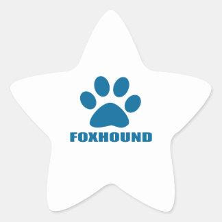 FOXHOUND DOG DESIGNS STAR STICKER