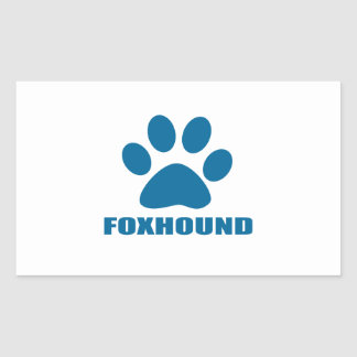 FOXHOUND DOG DESIGNS STICKER