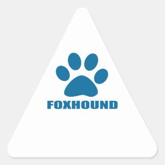 FOXHOUND DOG DESIGNS TRIANGLE STICKER