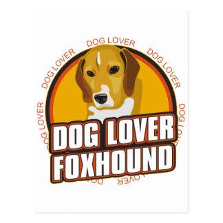 Foxhound Dog Lover Postcard