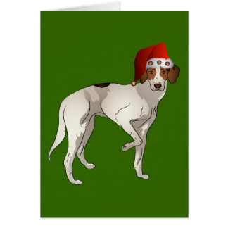 Foxhound Standing Christmas Card