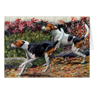 Foxhounds Greeting Card
