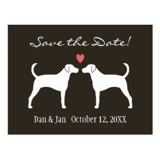 Foxhounds Wedding Save the Date Postcard