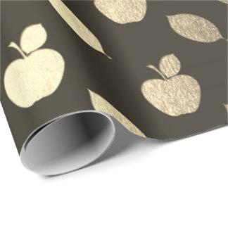 Foxier Gold Black Metallic Apple Fruits Foil