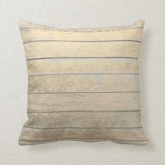 Foxier Gold Glam Metallic Wood Grungy Ivory Throw Pillow