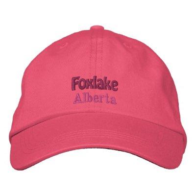 Foxlake Alberta, Canada Hat Embroidered Baseball Cap