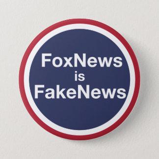 FoxNews Is FakeNews 3 Inch Round Button