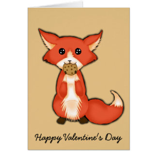 Foxy And Sweet Valentine Card