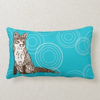 Foxy Circles Lumbar Pillow