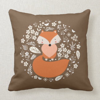 "Foxy Cotton Throw Pillow, Throw Pillow 20"" x 20"""