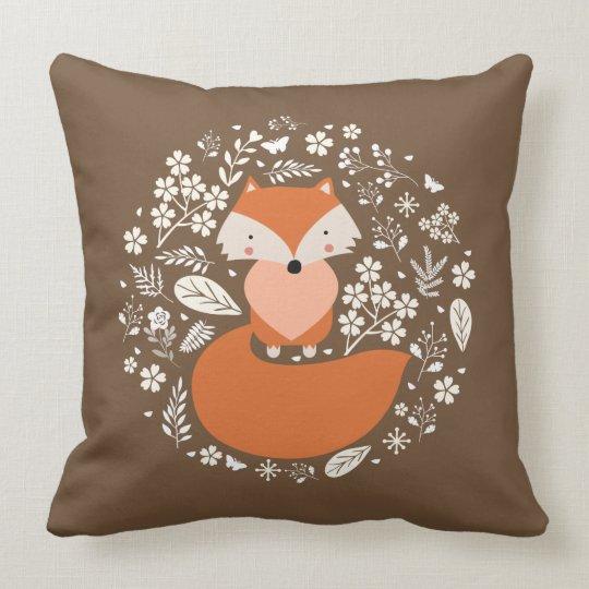 """Foxy Cotton Throw Pillow, Throw Pillow 20"""" x 20"""""""