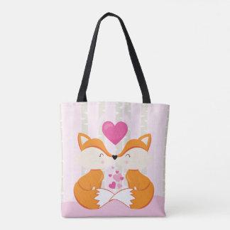 Foxy Couple Tote Bag