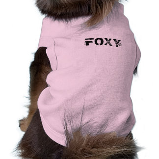 """FOXY"" doggy Tee Pet Clothes"