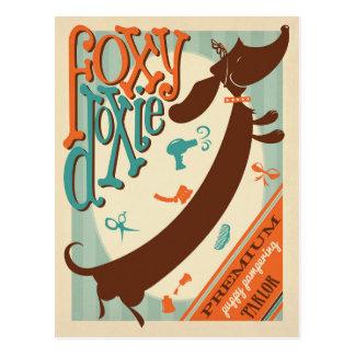 Foxy Doxie Postcard