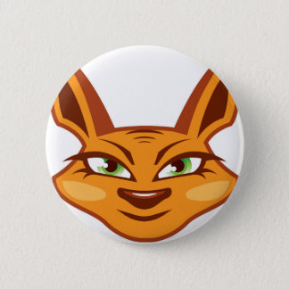 Foxy Face 2 Inch Round Button