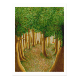 Foxy Forest Postcard