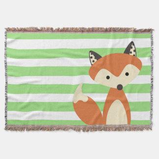 Foxy Fox Throw Blanket