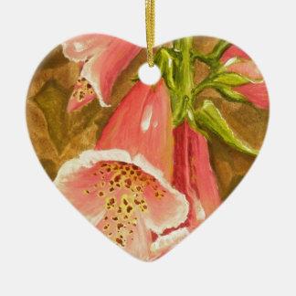 Foxy Foxglove of Williamsburg.JPG Ceramic Heart Ornament