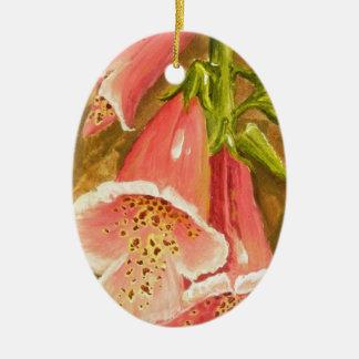 Foxy Foxglove of Williamsburg.JPG Ceramic Oval Ornament