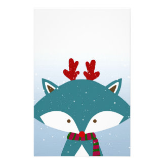 Foxy Get Trendy For Christmas Personalized Stationery