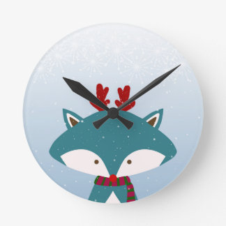 Foxy Get Trendy For Christmas Round Clock