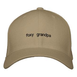 foxy grandpa embroidered hat
