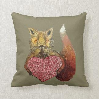 Foxy in Love cushion