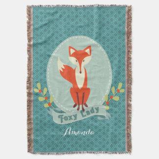 Foxy Lady Argyle Throw Blanket