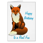 Foxy Lady Birthday Card